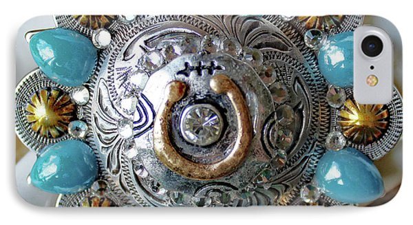 Concho Belt Buckle IPhone Case by Katherine Sutcliffe