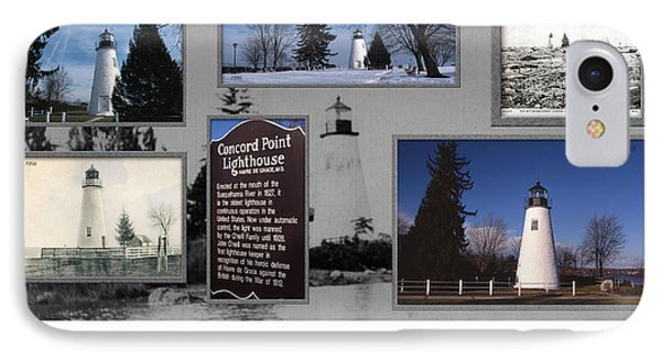 Concord Point Lighthouse Collage IPhone Case
