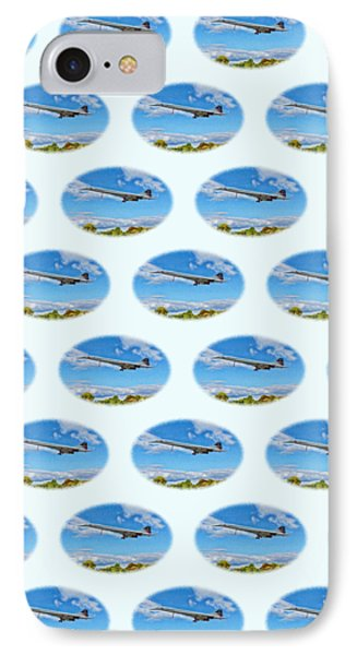 IPhone Case featuring the photograph Concorde On Finals - Tiled by Paul Gulliver