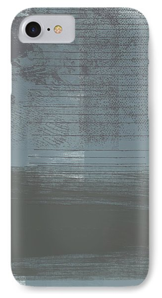 Concrete 1- Contemporary Abstract Art By Linda Woods IPhone Case by Linda Woods