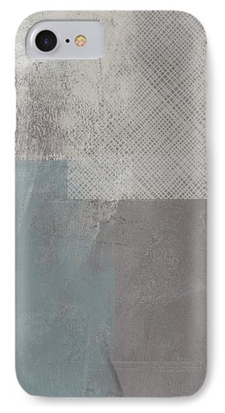 Concrete 3- Contemporary Abstract Art By Linda Woods IPhone Case by Linda Woods