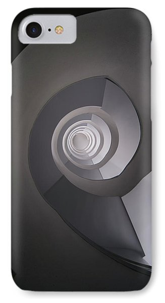 Concrete Abstract Spiral Staircase IPhone Case by Jaroslaw Blaminsky
