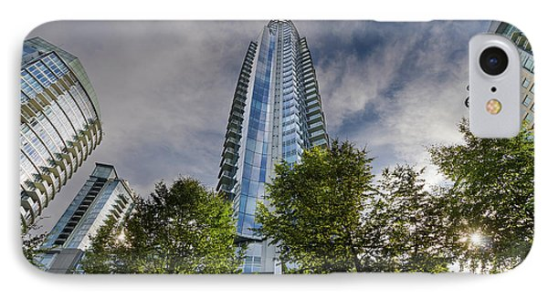 Condominiums Along Waterfront In Vancouver Bc Phone Case by David Gn
