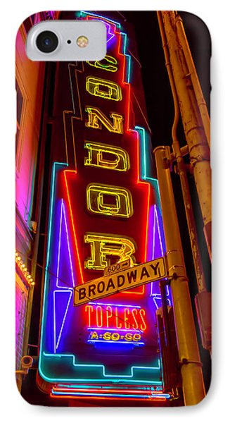 Condor Neon On Broadway IPhone 7 Case by Garry Gay