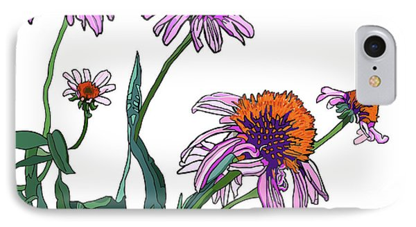 Cone Flowers IPhone Case by Jamie Downs