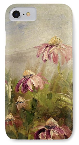 IPhone Case featuring the painting Coneflowers by Donna Tuten