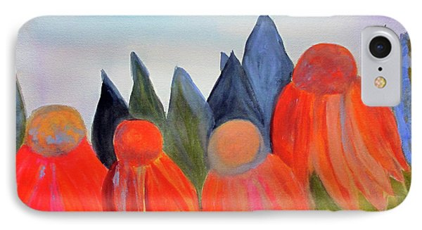 IPhone Case featuring the painting Coneflowers by Sandy McIntire