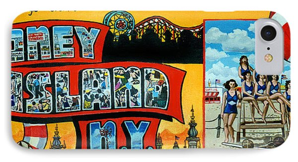 Coney Island New York IPhone Case by Bonnie Siracusa