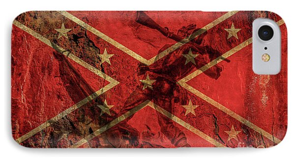 Confederate Flag And Mississippi Monument IPhone Case