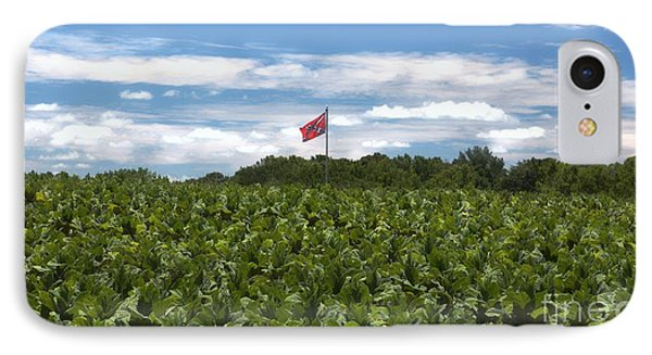 Confederate Flag In Tobacco Field IPhone Case by Benanne Stiens