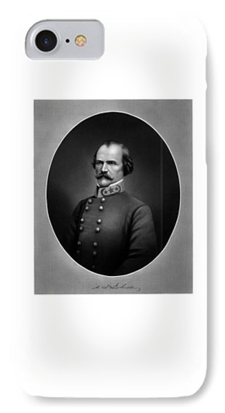 Confederate General Albert Sidney Johnston IPhone Case by War Is Hell Store