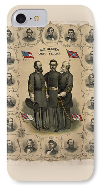 Confederate Generals Of The Civil War Phone Case by War Is Hell Store