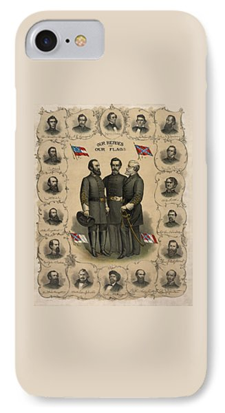 Confederate Generals Of The Civil War IPhone Case