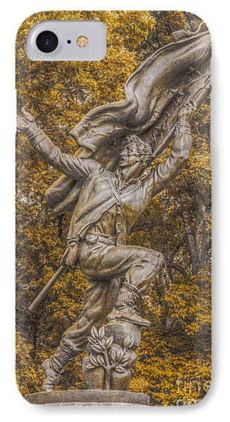 Confederate Soldiers And Sailors Monument Gettysburg Ver 2 IPhone Case