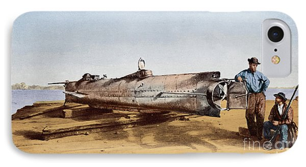 Confederate Submarine, Hunley IPhone Case