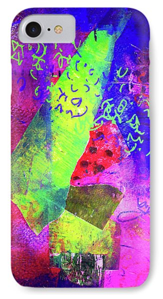 IPhone Case featuring the mixed media Confetti by Nancy Merkle