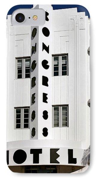 Congress Hotel. Miami. Fl. Usa IPhone Case by Juan Carlos Ferro Duque