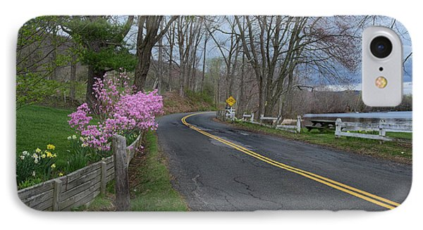 IPhone 7 Case featuring the photograph Connecticut Country Road by Bill Wakeley