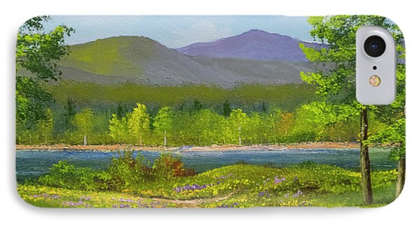 IPhone Case featuring the painting Connecticut River Spring by Frank Wilson