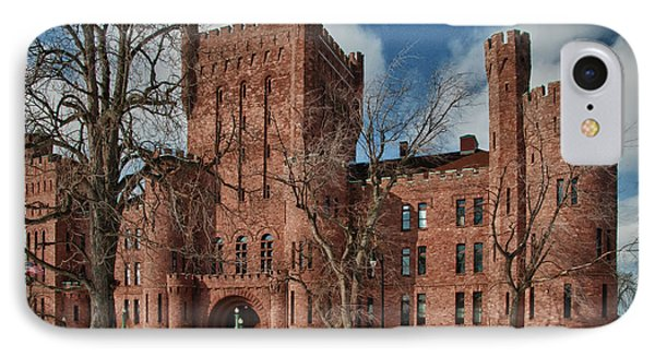 IPhone Case featuring the photograph Connecticut Street Armory 3997a by Guy Whiteley