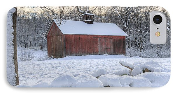 Connecticut Winter Barns IPhone Case by Bill Wakeley