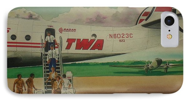 Connie Crew Deplaning At Columbus IPhone Case by Frank Hunter