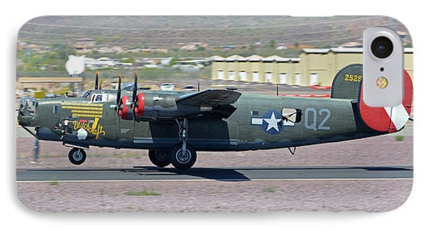 IPhone Case featuring the photograph Consolidated B-24j Liberator N224j Witchcraft Deer Valley Arizona April 13 2016 by Brian Lockett