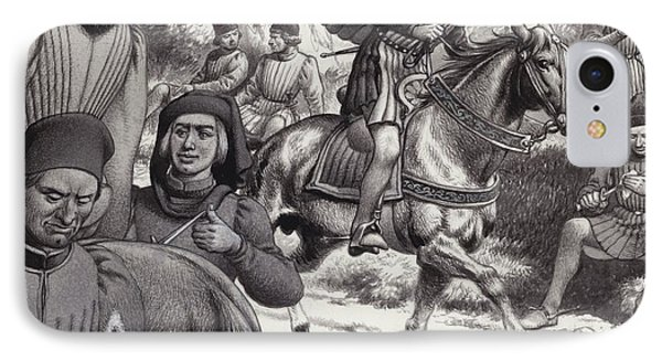 Conspirators Look On As Lorenzo De Medici Rides By  IPhone Case by Pat Nicolle