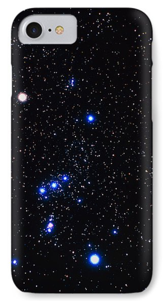 Constellation Of Orion With Halo Effect Phone Case by John Sanford