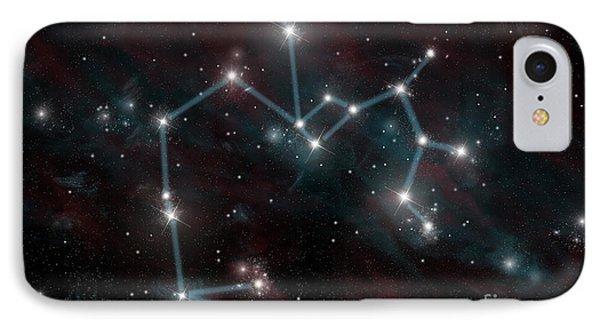 Constellation Of Sagittarius The Archer IPhone Case by Marc Ward
