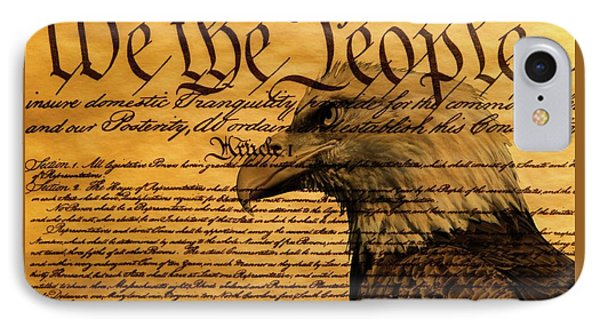 Constitution And Bald Eagle IPhone Case