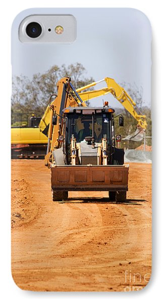Construction Digger IPhone Case by Jorgo Photography - Wall Art Gallery