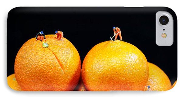Construction On Oranges IPhone Case