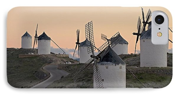 IPhone Case featuring the photograph Consuegra Windmills by Heiko Koehrer-Wagner
