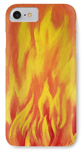 Consuming Fire IPhone Case by Antonio Romero