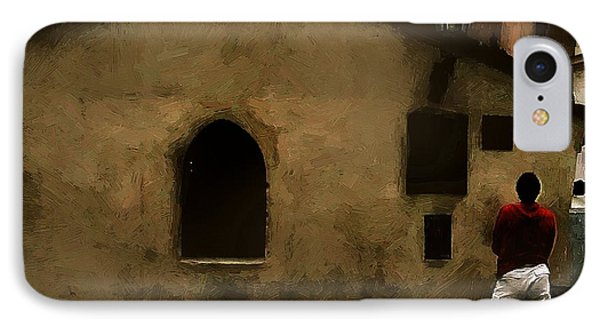 Contemplating Antiquity Phone Case by RC DeWinter