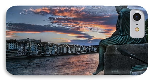 Contemplating Life In Basel IPhone Case
