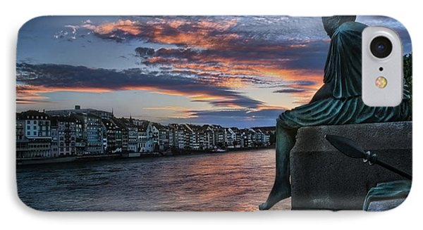 Contemplating Life In Basel IPhone Case by Carol Japp