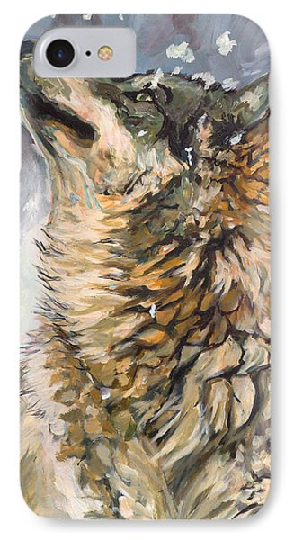 Contemplating The Snow IPhone Case by Koro Arandia