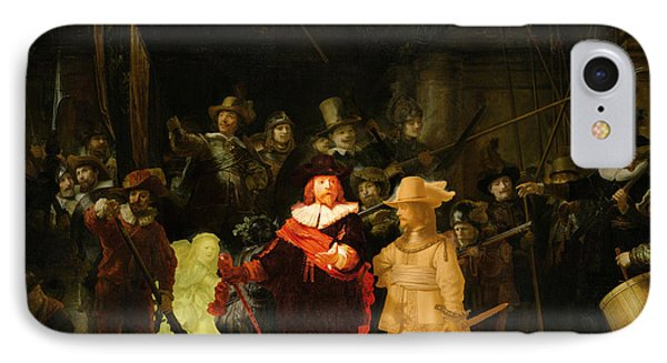 Contemporary 1 Rembrandt IPhone Case by David Bridburg