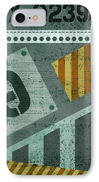 Contemporary Abstract Industrial Art - Distressed Metal - Olive IPhone Case