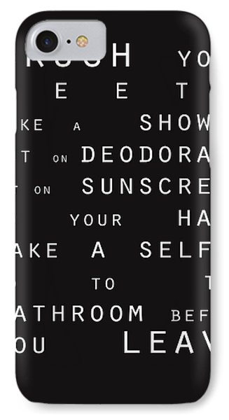 Contemporary Bathroom Rules - Subway Sign IPhone Case