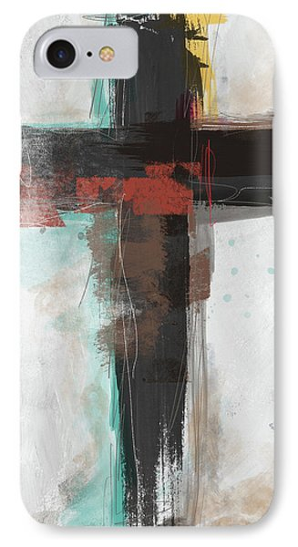 Cross iPhone 7 Case - Contemporary Cross 1- Art By Linda Woods by Linda Woods