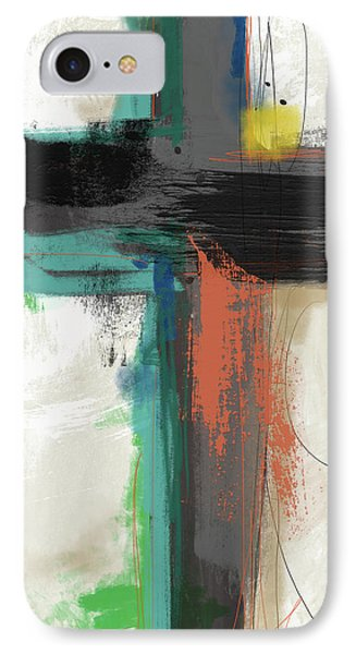 Contemporary Cross 2- Art By Linda Woods IPhone Case