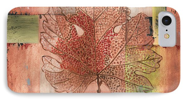 Contemporary Grape Leaf IPhone Case by Debbie DeWitt