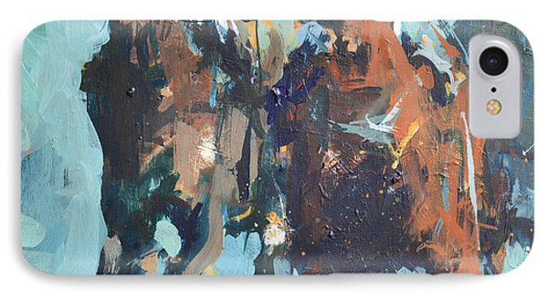 IPhone Case featuring the painting Contemporary Horse Racing Painting by Robert Joyner