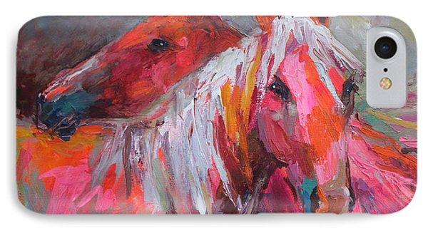 Contemporary Horses Painting Phone Case by Svetlana Novikova