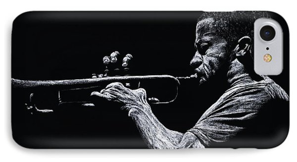 Contemporary Jazz Trumpeter IPhone Case