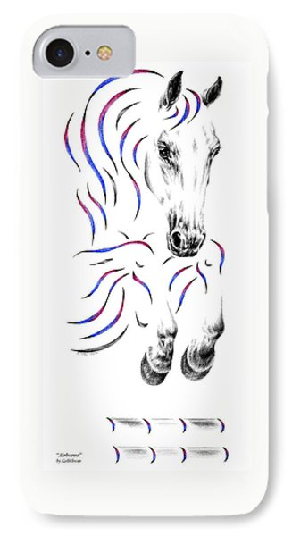 Contemporary Jumper Horse IPhone Case by Kelli Swan