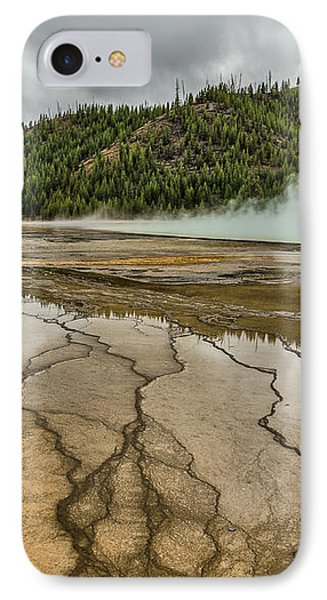 IPhone Case featuring the photograph Contrasts At Midway Geyser Basin by Sue Smith